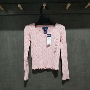 NWT-Ralph Lauren Pink Sweater - Size 4/4T